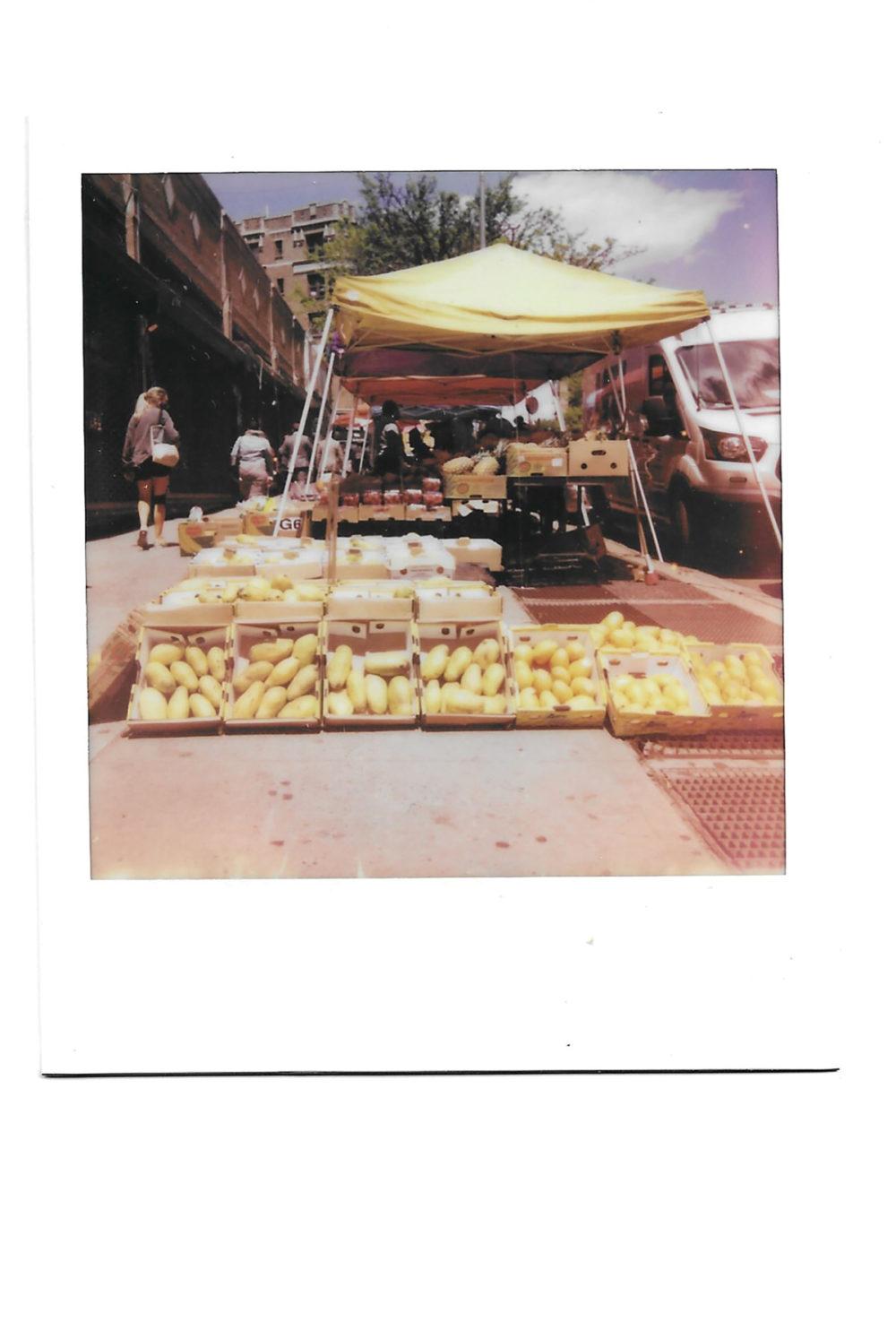Fruit stand on corner in New York City