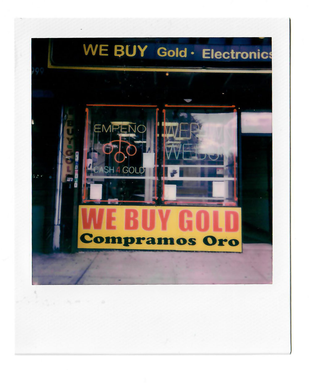 Pawn shop storefront
