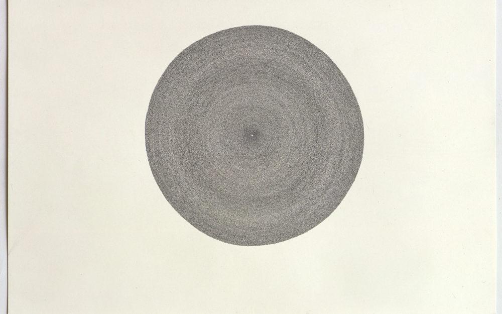 Gray circle on white background
