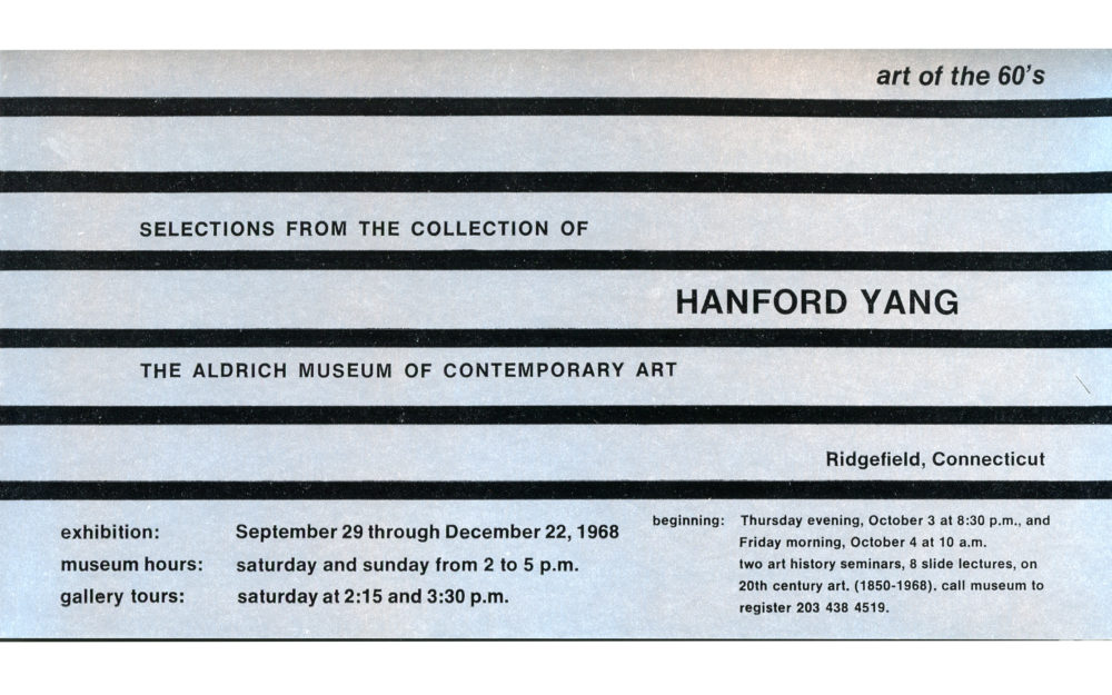 Selections from the Collection of Hanford Yang: Art of the '60s