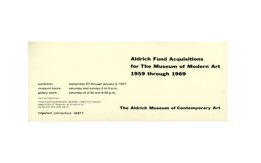 Aldrich Fund Acquisitions
