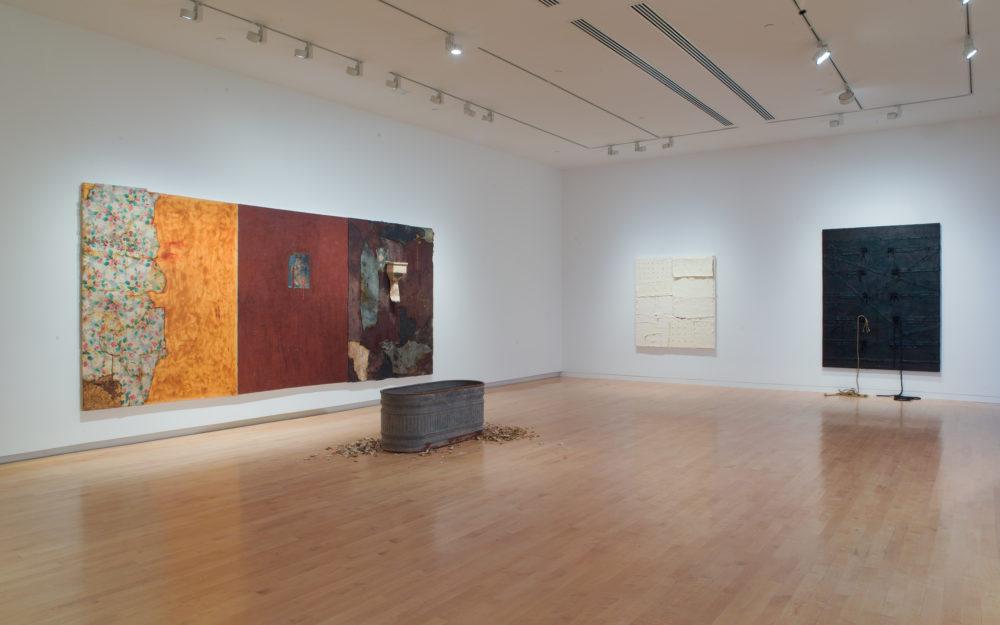 Harmony Hammond installation view at The Aldrich Contemporary Art Museum