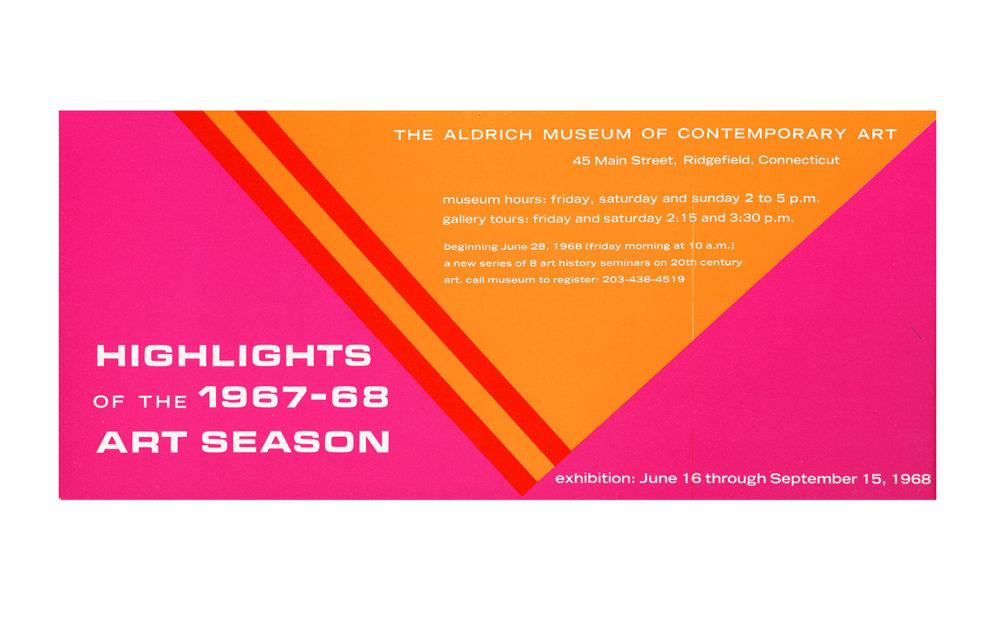 Highlights of the 1967-1968 Art Season