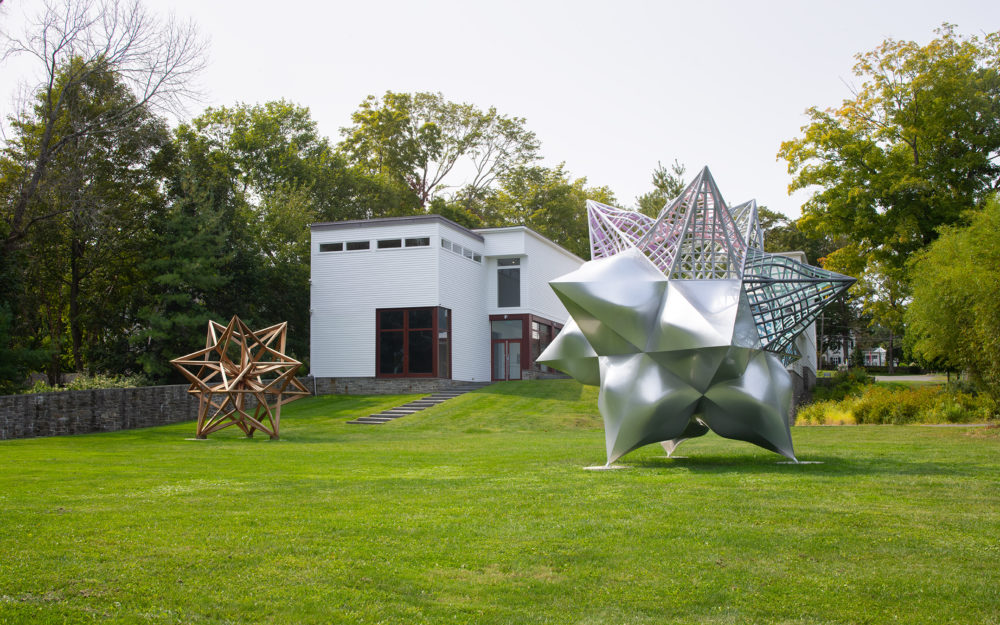 Two large star sculptures