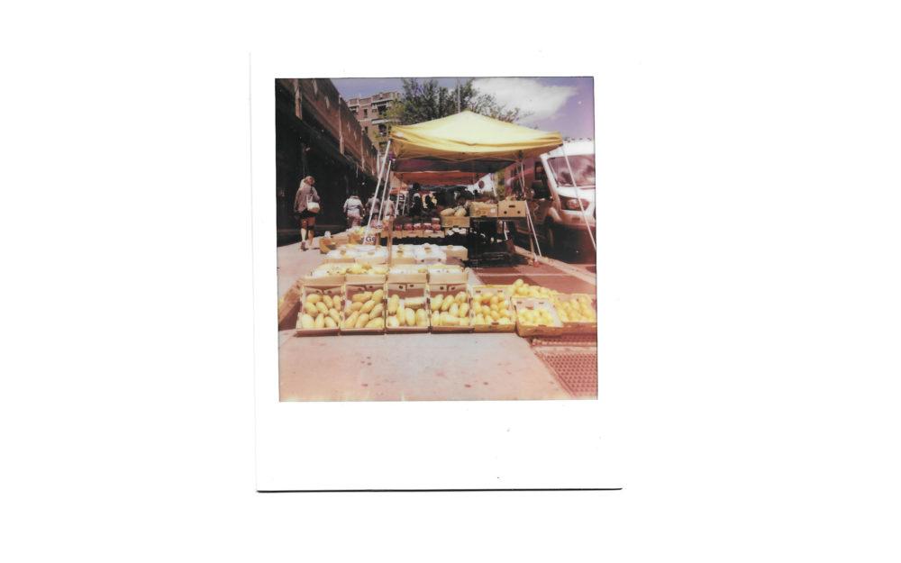 Fruit stand on New York City street corner
