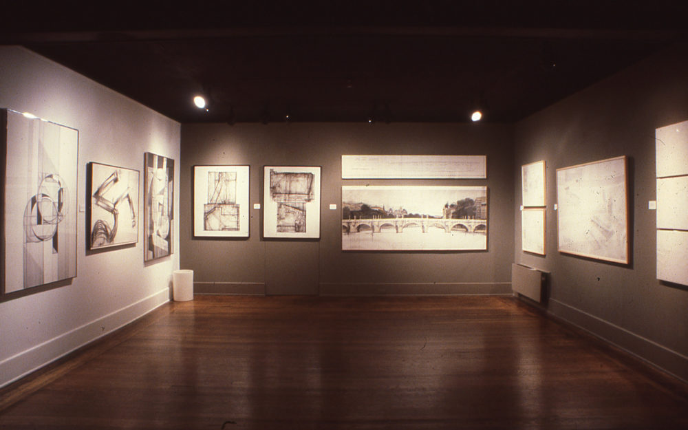 Installation view of New Dimensions in Drawing