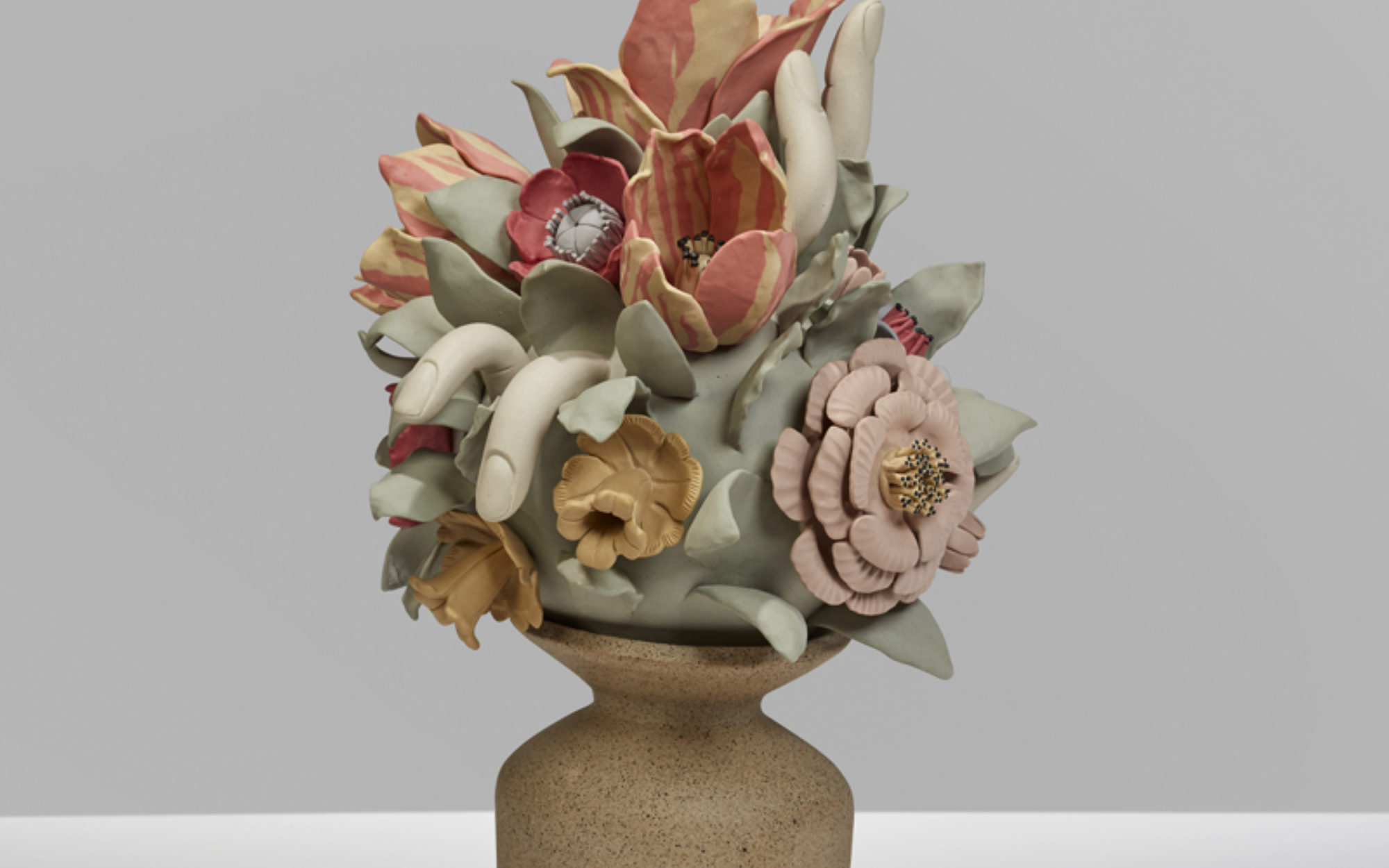 Stoneware bouquet of flowers
