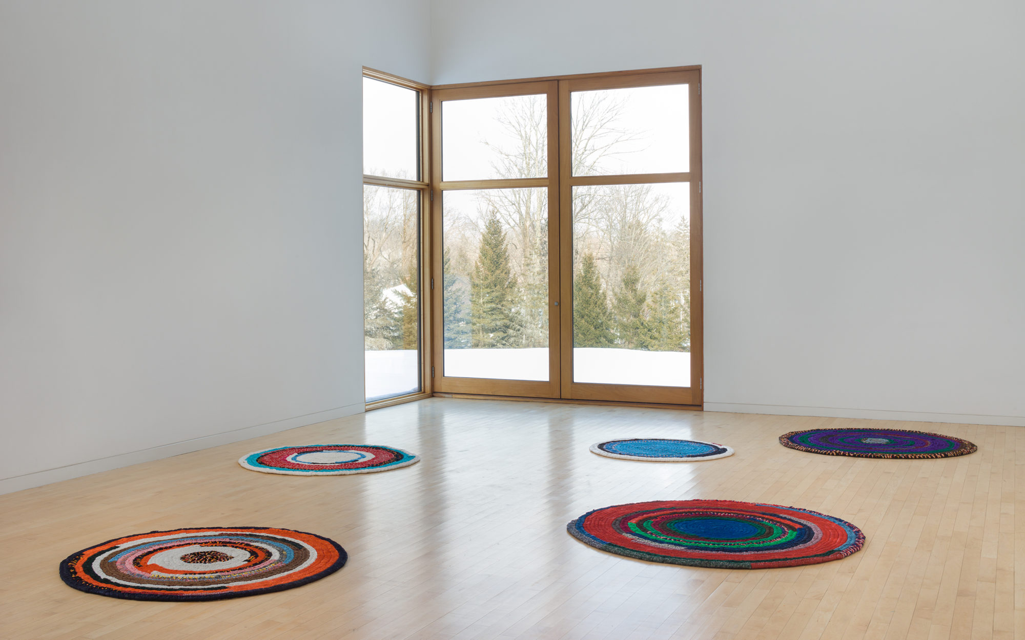 Harmony Hammond's Floorpieces at The Aldrich Contemporary Art Museum