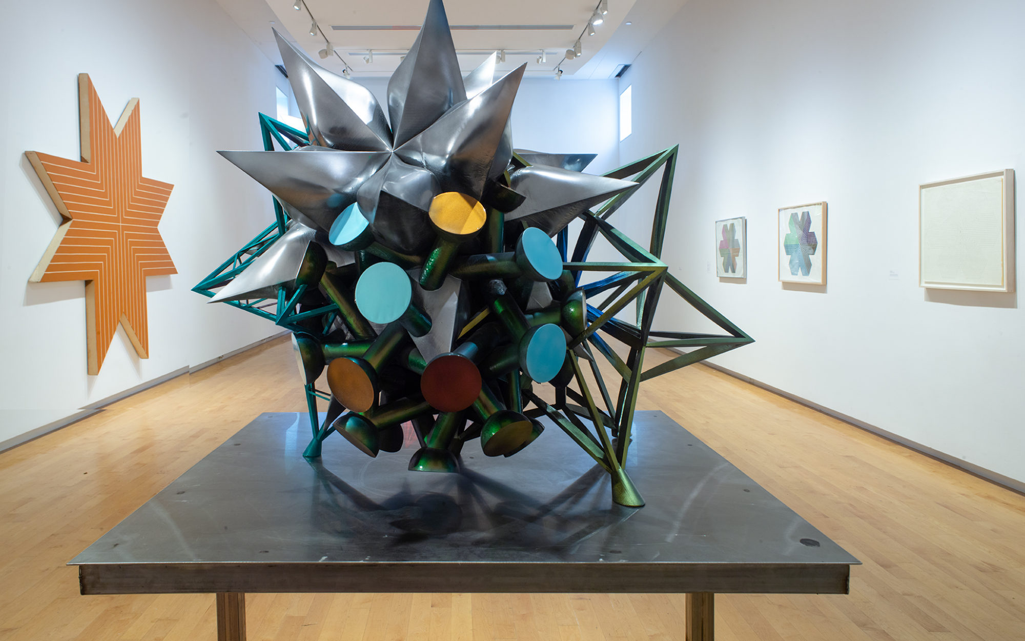 Frank Stella's Stars, A Survey, The Aldrich Contemporary Art Museum, September 21, 2020 to May 9, 2021, K.159, 2013 (installation view).
