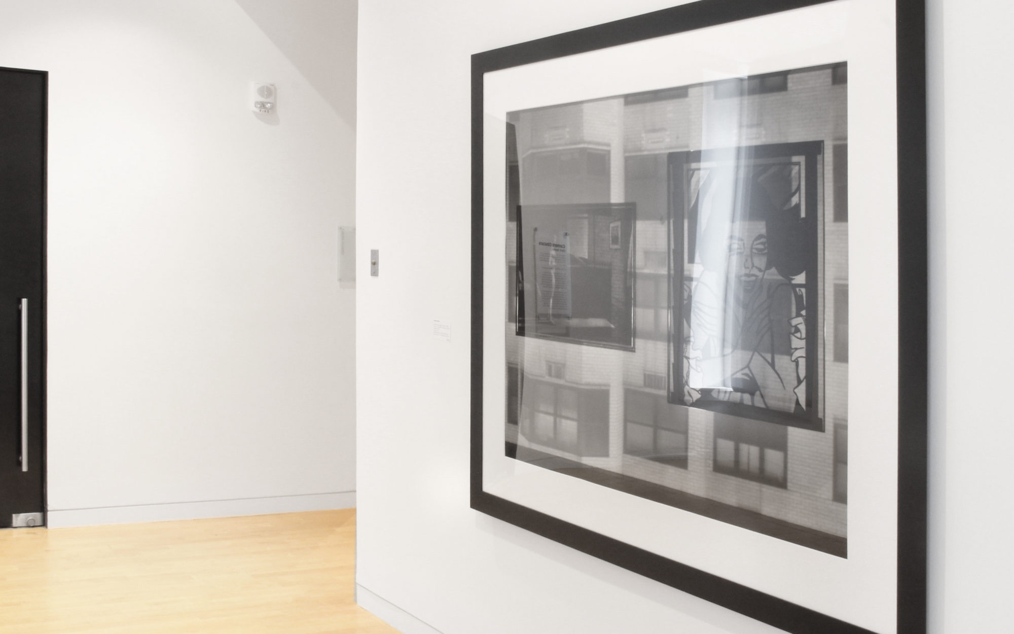 Large photograph on gallery wall