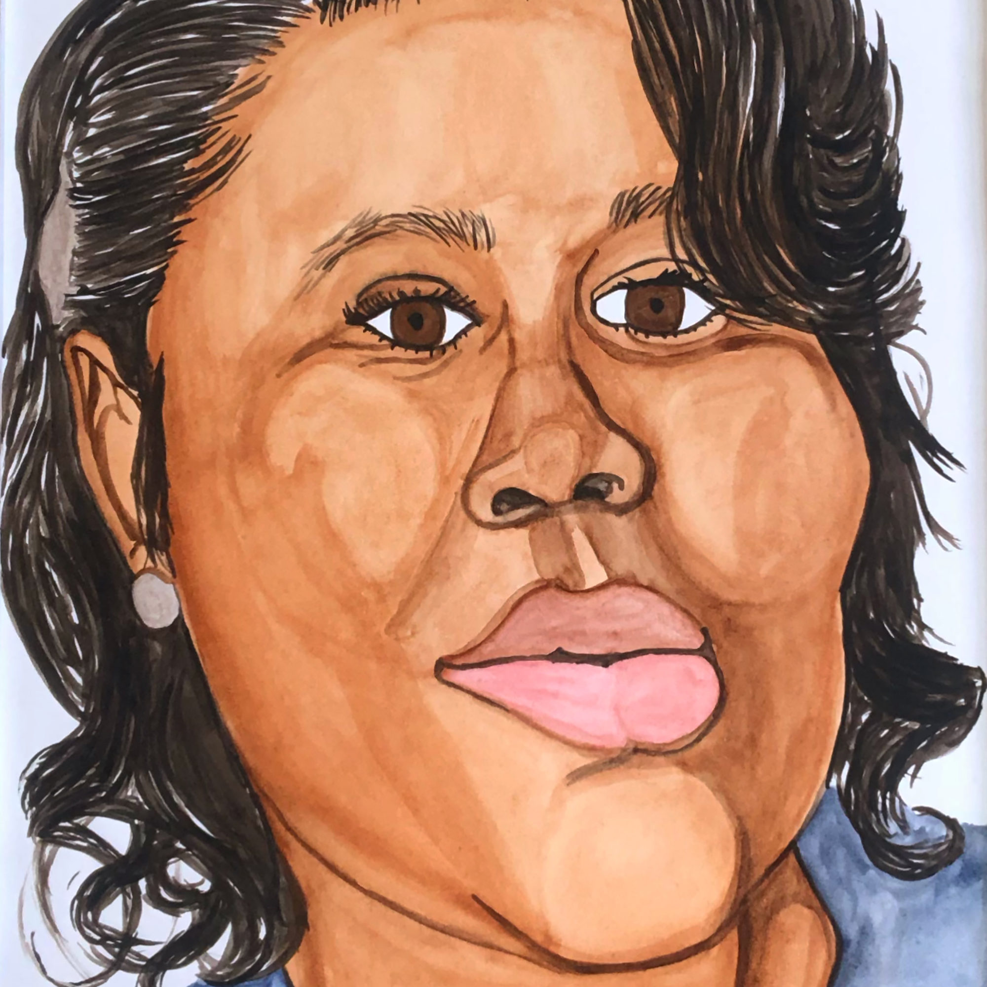 Rudy Shepherd's watercolor of Breonna Taylor