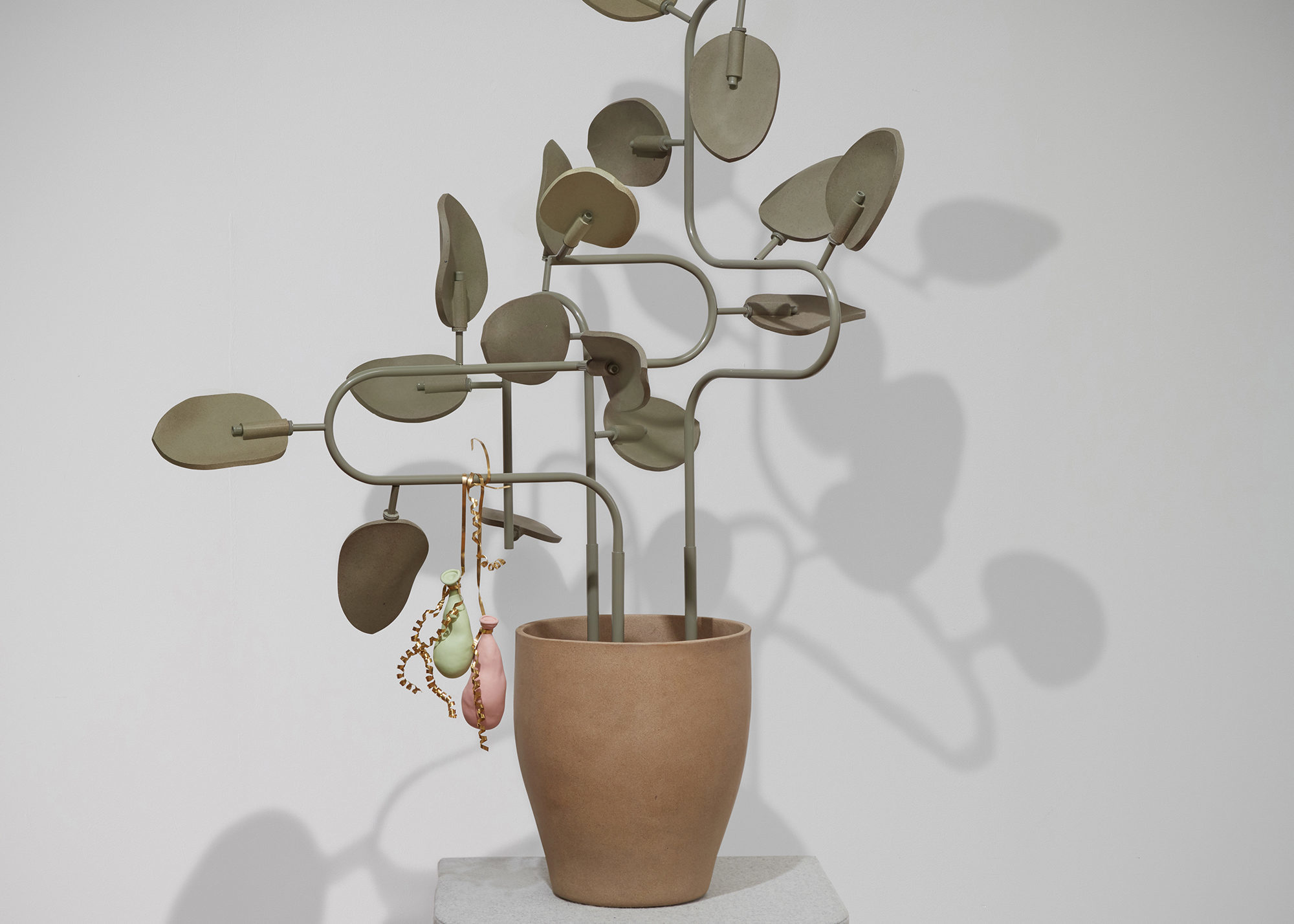 Plant-like sculptural object