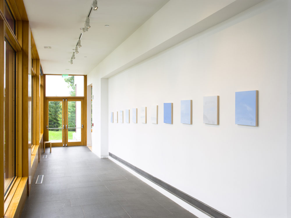 Paintings on wall of hallway