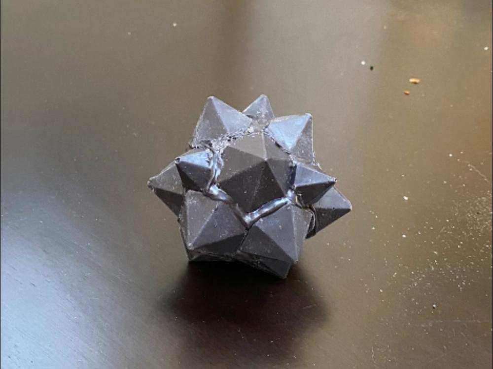 Chocolate replica of Fat 12 Point Carbon Fiber Star