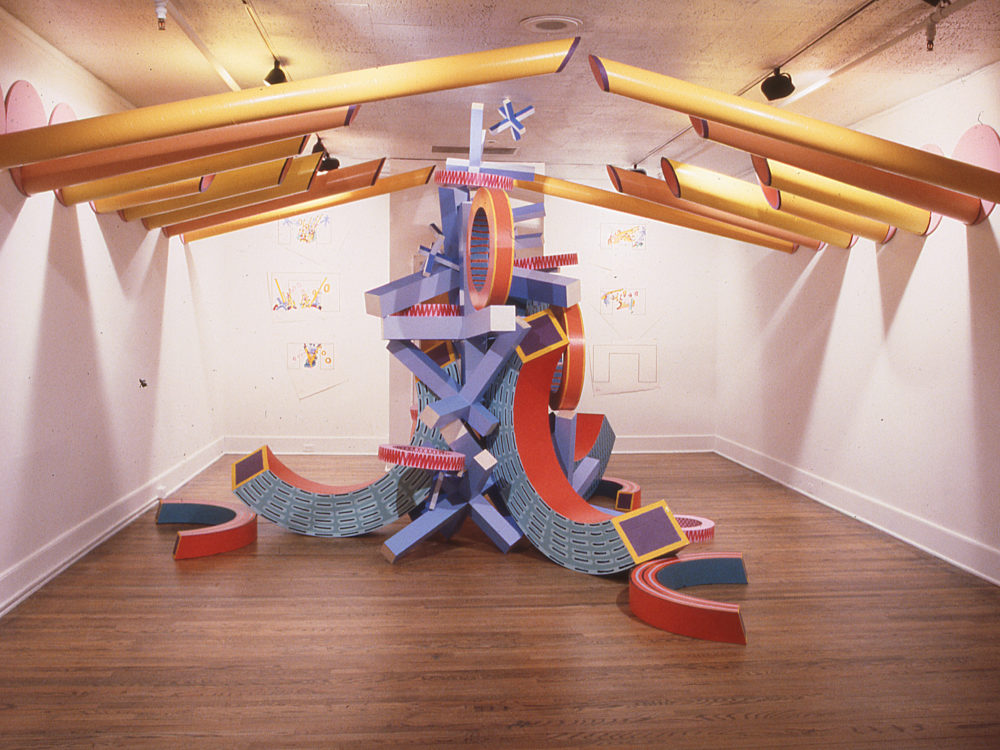 Large sculptural work in Museum's gallery