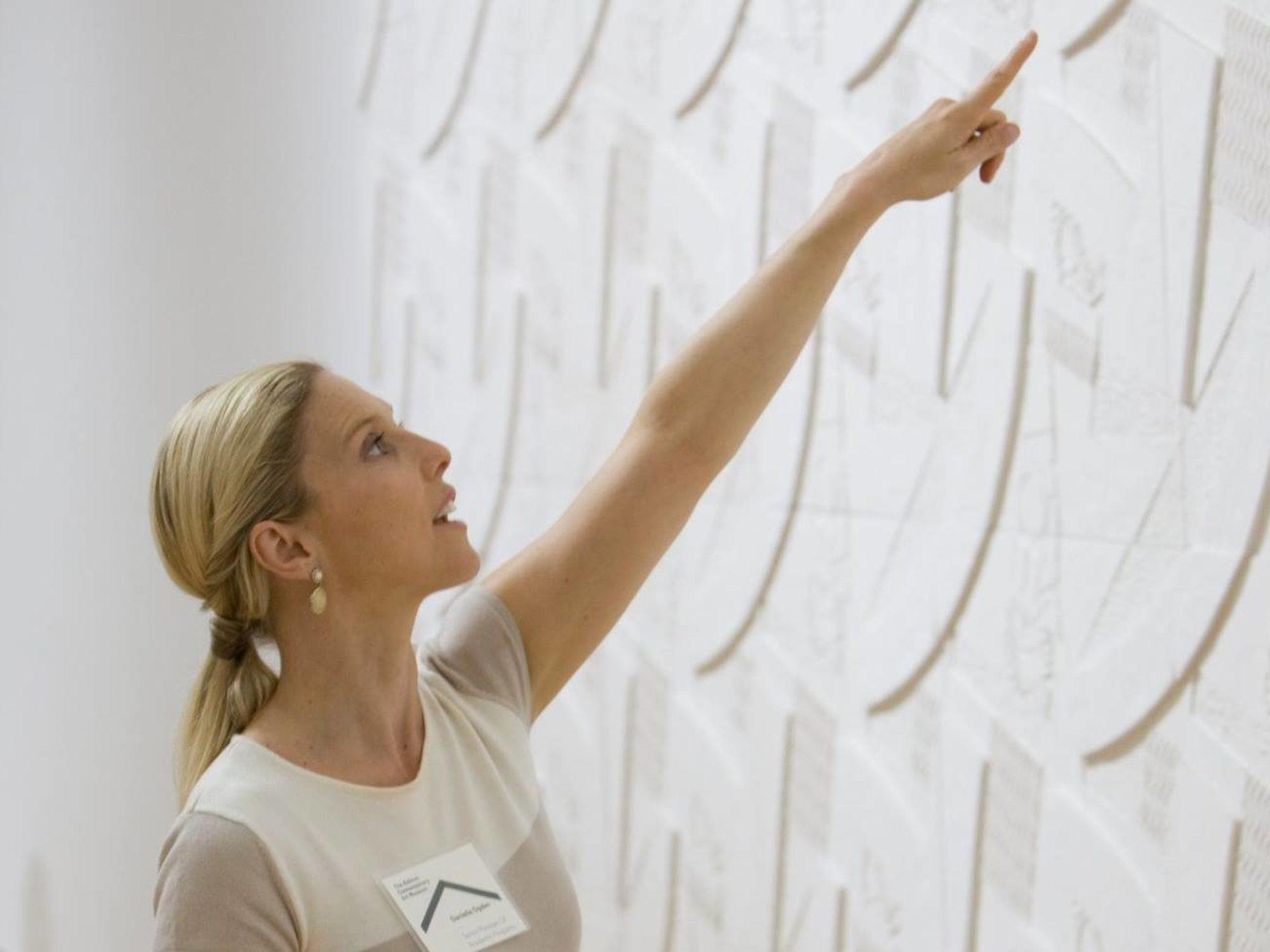 Danielle Ogden teaches a class at The Aldrich