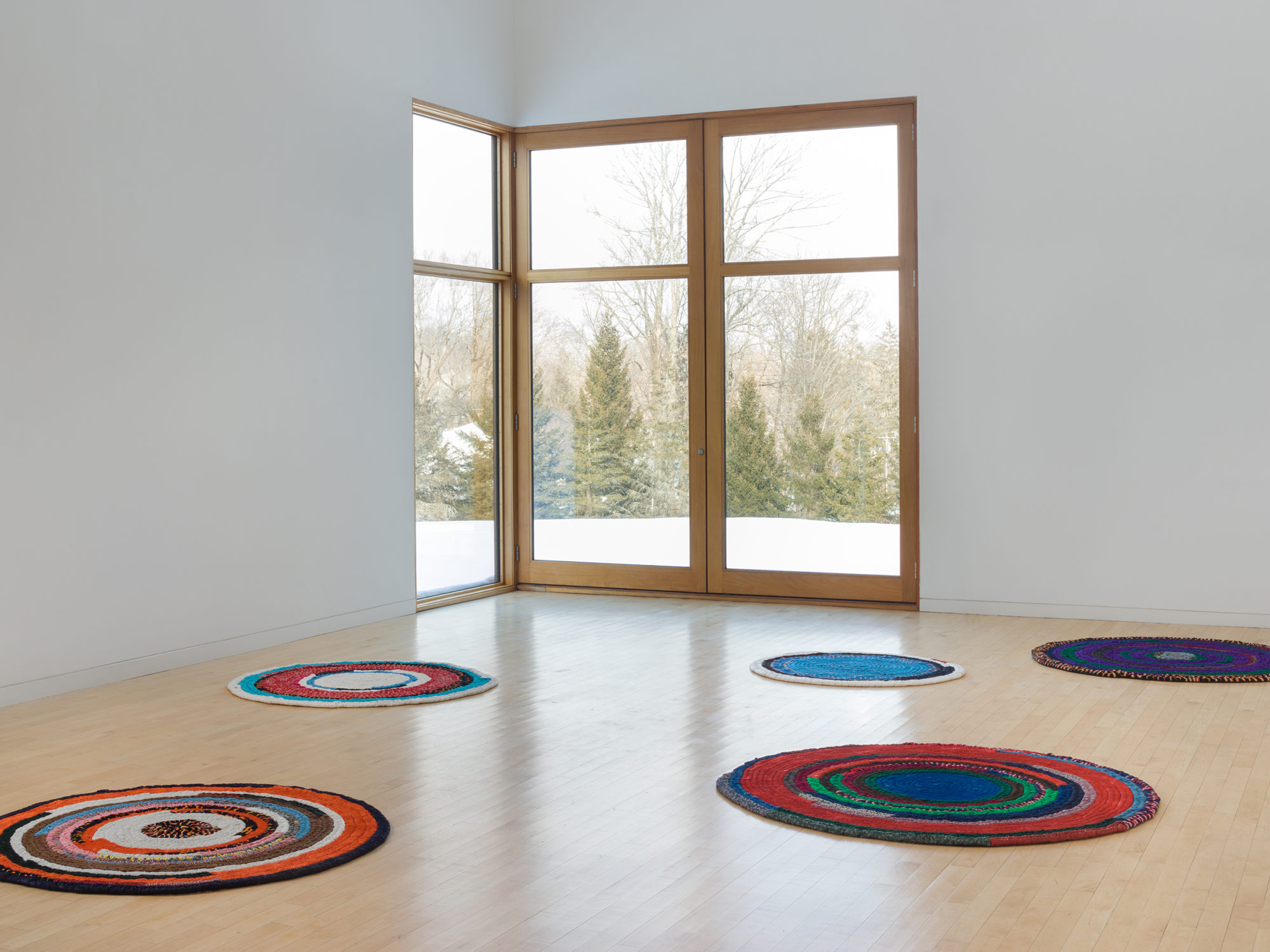 Harmony Hammond's Floorpieces at The Aldrich Contemporary Art Museum