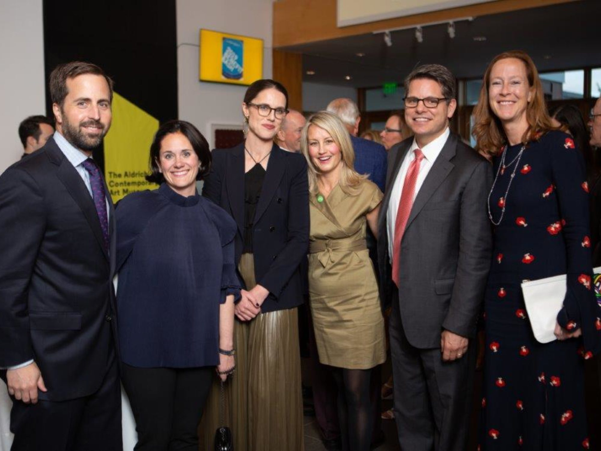 Gala attendees pose at The Aldrich