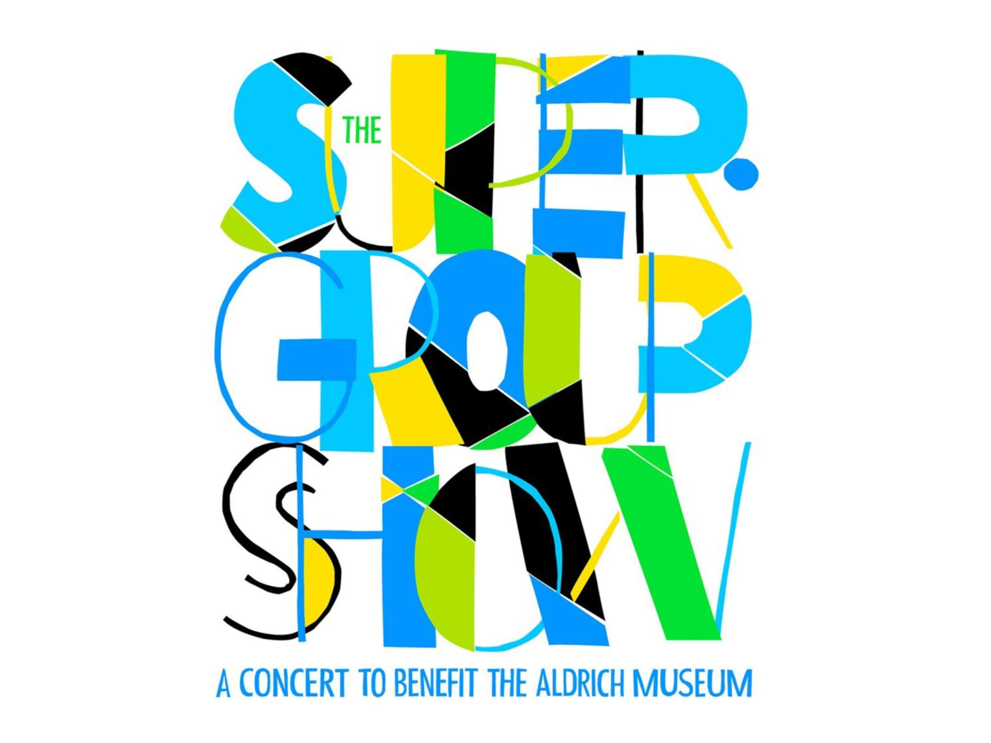 """Colorful text reading """"The Super Group Show"""""""