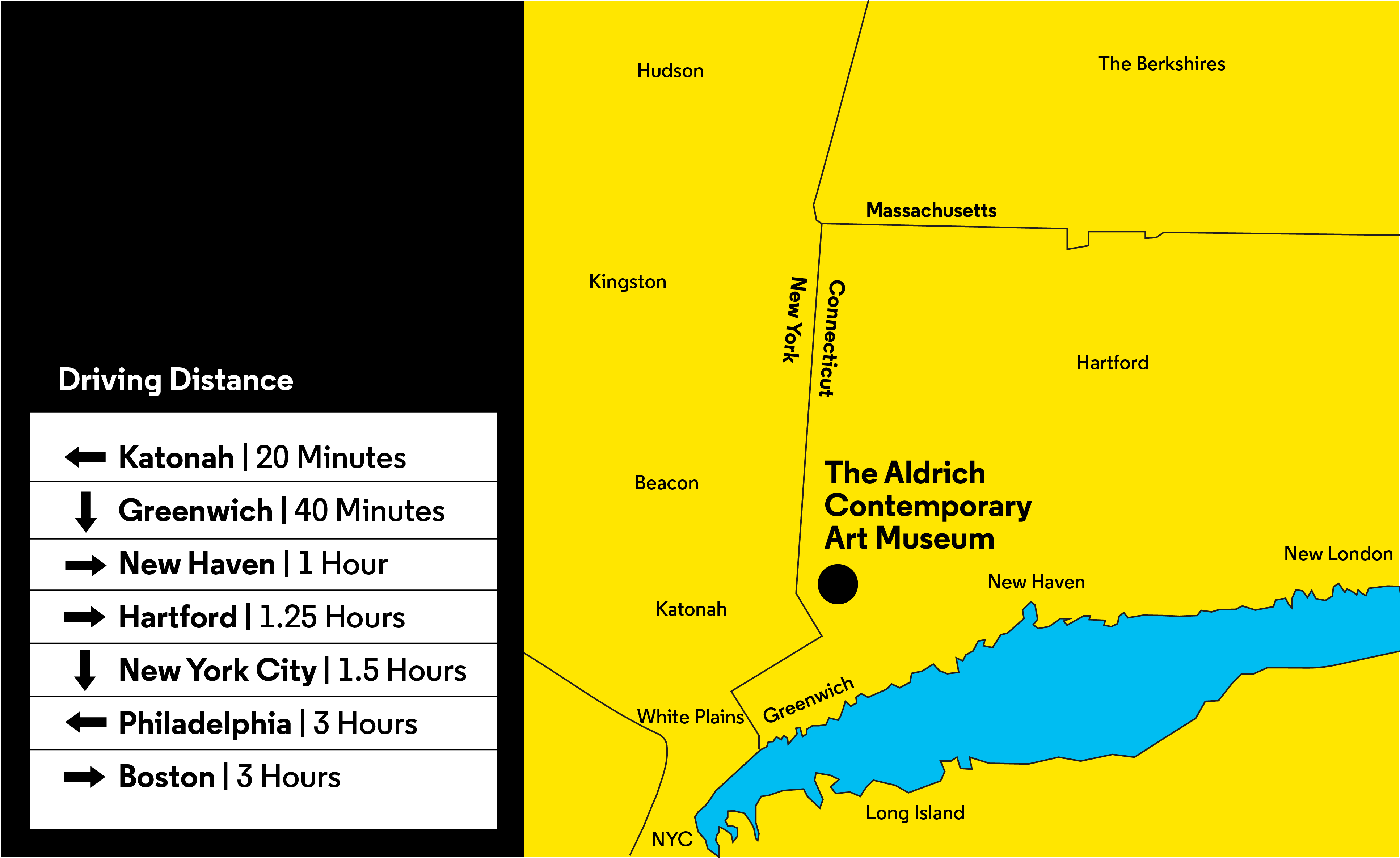 The Aldrich Contemporary Art Museum on a map